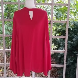 TORRID Women's Red Blouse Size 4X Tie in the back